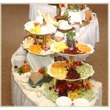 buffet de coquetel completo na Chácara Flora
