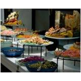 buffet de jantar de casamento Vila Monumento