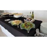 buffets de almoço na Chácara Flora