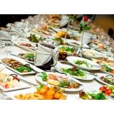 buffet de almoço para casamento simples