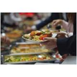 buffet de jantar de casamento